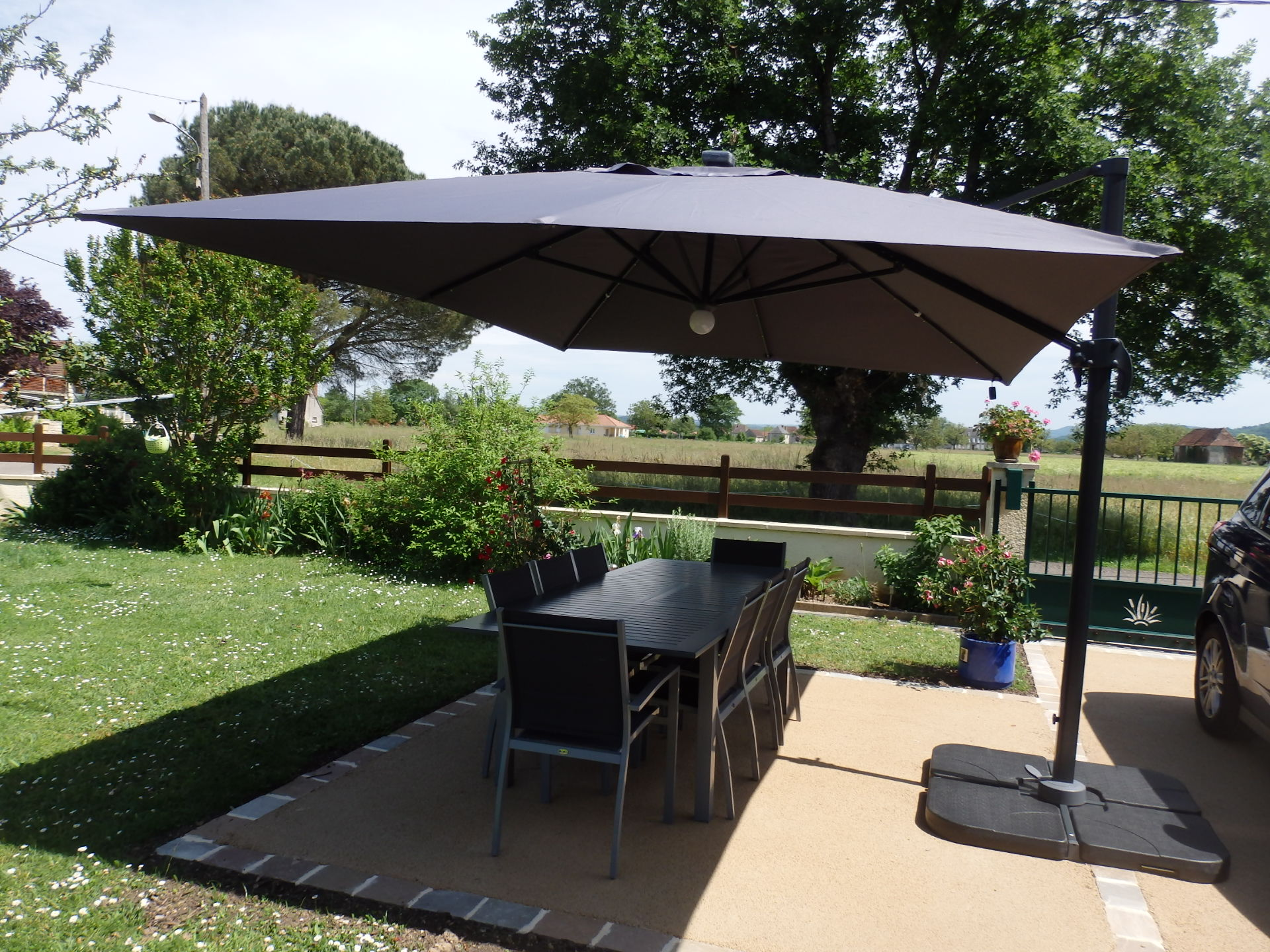 Parasol Rectangulaire Deporte Inclinable Maison Design Yukoff Com